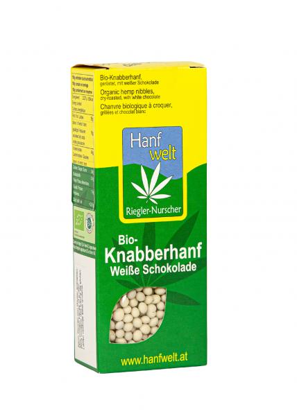 Bio Knabberhanf weiß schokoliert